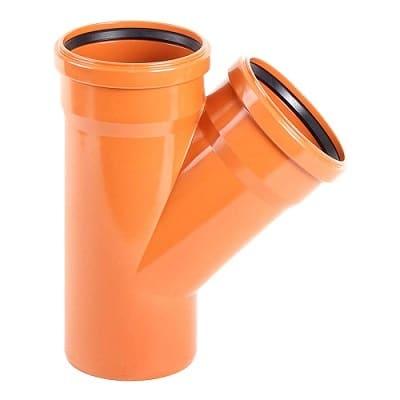 110mm-underground-drainage-magnaplast-45-degree-double-socket-branch-speedy-plastics1