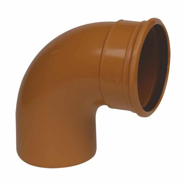 160mm-Underground-Drainage-87.5-degree-Single-Socket-Swept-Bend