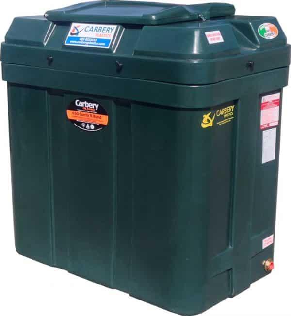 Carbery Bunded Oil Tank - 650 Litre Slimline BTGR00650-speedyplastics