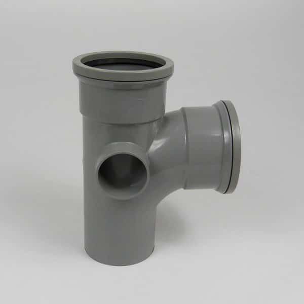 110mm-Pushfit-soil-90d-double-socket-boss-branch-grey-speedyplastics