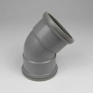 110mm-pushfit-soil-45d-ds-bend-grey-speedyplastics