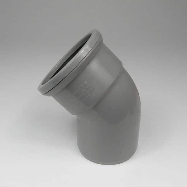 110mm-pushfit-soil-45d-ss-bend-grey-speedyplastics