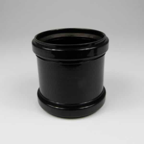 110mm-pushfit-soil-coupler-black-speedyplastics