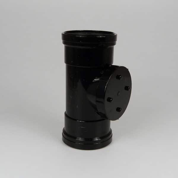110mm-double-socket-access-pipe-black-speedyplastics