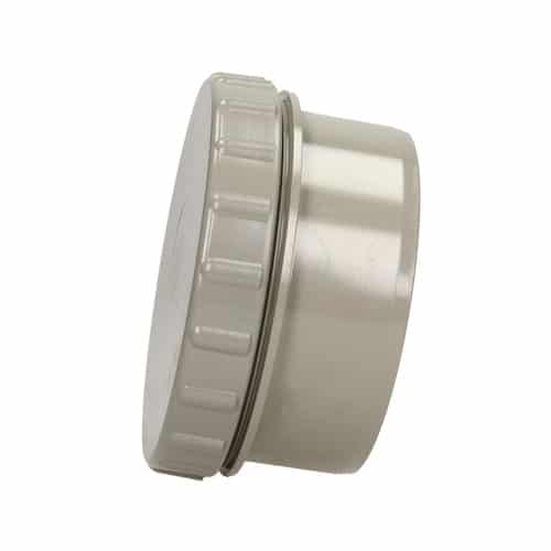 solvent weld soil solvent weld screwed access cap olive grey