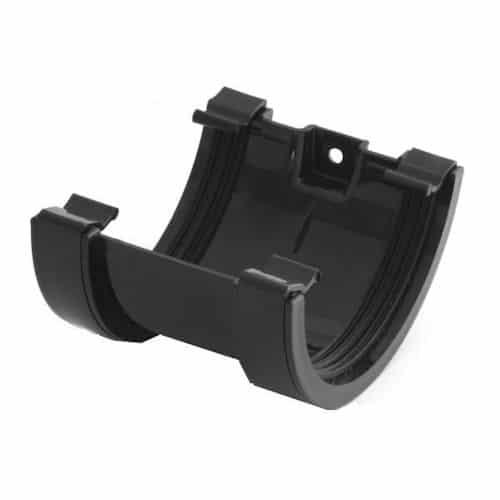black-half-round-union-gutter-joiner-speedyplastics