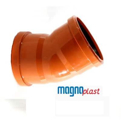 110mm-underground-drainage-magnaplast-45-degree-double-socket-bend-speedy-plastics