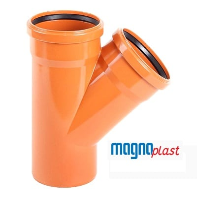 110mm-underground-drainage-magnaplast-45-degree-double-socket-branch-speedy-plastics