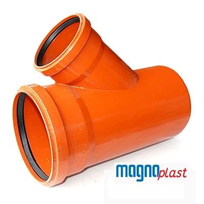 160mm-underground-drainage-magnaplast-45-degree-double-socket-unequal-branch-speedy-plastics