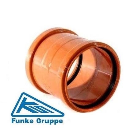 underground drainage double slip socket coupler funke