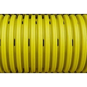 300mm Yellow Perforated Gas Ducting Pipe Smooth Inner