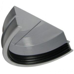 170mm Grey Commercial Guttering External Stop End