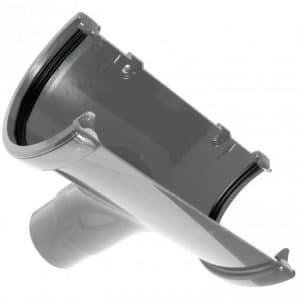 Grey Commercial Guttering 170mm