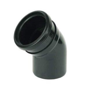 110mm-push-fit-soil-135-degree-bend-single-socket-black
