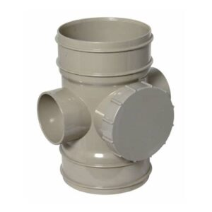 110mm-solvent-access-pipe-double-socket-olive-grey