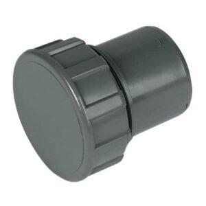 solvent weld access cap grey