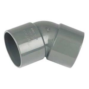 solvent weld obtuse 45d bend grey