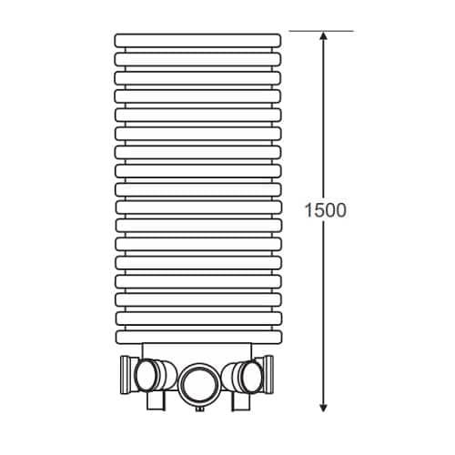 600mm Diameter x 1500mm tall manhole chamber base