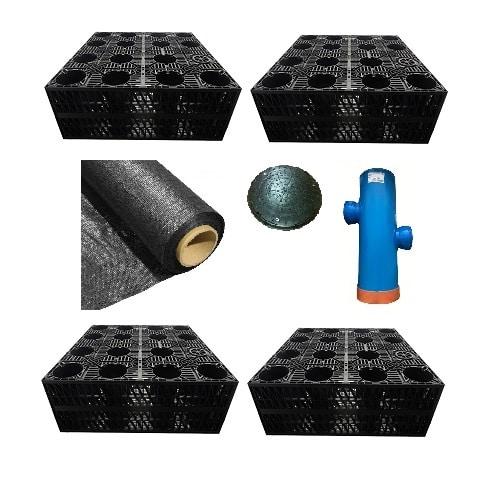Soakaway Kit 4 Crates Geo Silt
