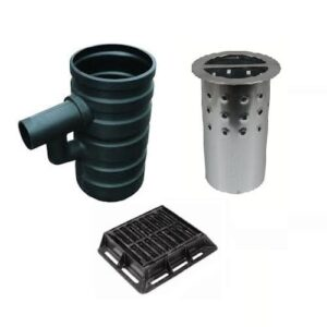 Yard Gully Silt Bucket Gully Grate Set