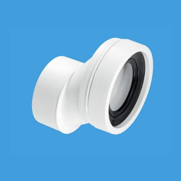mcalpine-wc-con4b-40mm-offset-pan-connector-plain-outlet