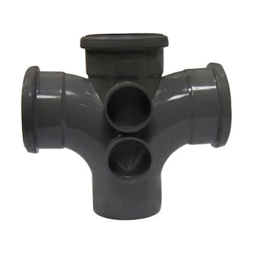 110mm-push-fit-cross-tee-branch-triple-socket-grey