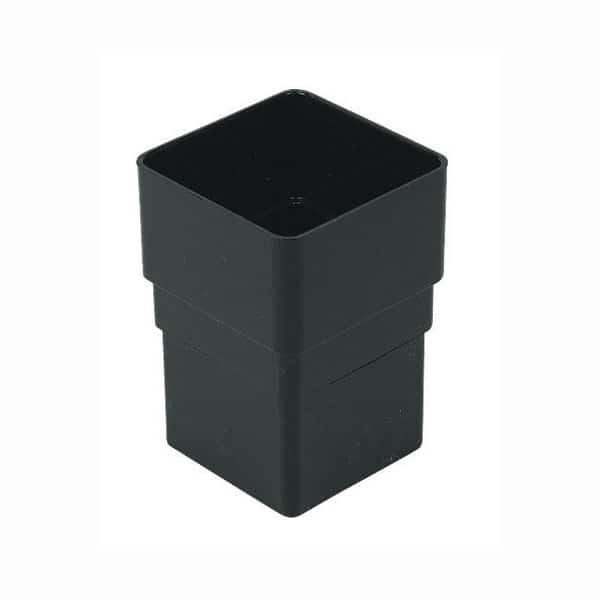 Black-Square-Down-Pipe-Socket-Floplast-65mm-RSS1BK