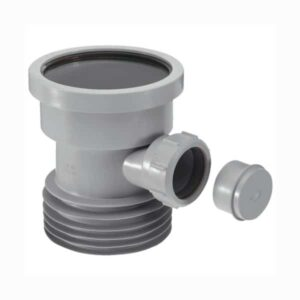 DC1-GR-BO-McAlpine-4-Drain-Connector-with-1-1-2-Universal-Pipe-Boss-Grey