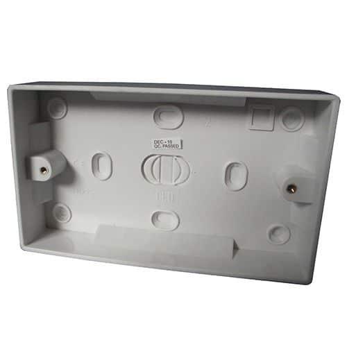 Plastic-pattress-box-double