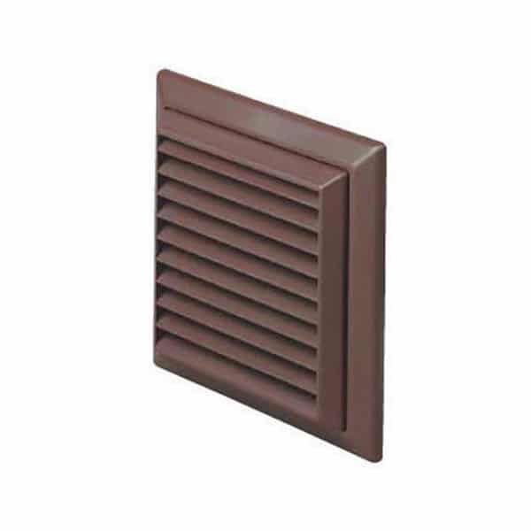 Round-Louvre-Grille-100mm Brown
