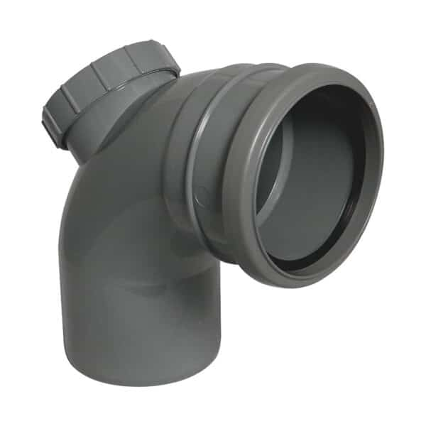 110mm-90-degree-single-socket-access-bend-anthracite-grey